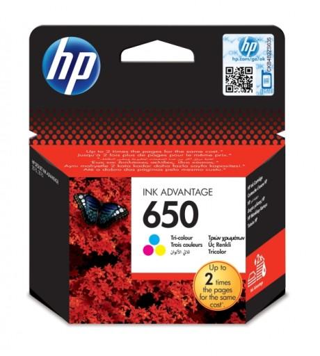ORYGINALNY TUSZ HP 650 INK ADVANTAGE TRI-COLOR