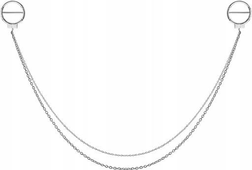 SS316L 2x ring 1,6x12 do sutka z łańcuszkiem