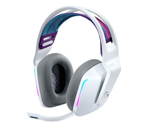 Słuchawki bezprzewodowe Logitech G733 LED Białe