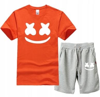 Męski Letni Komplet Marshmello Spodenki + T-shirt 9551599073 Odzież Męska Komplety WW ZJNYWW-4