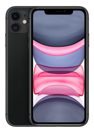 Smartfon APPLE iPhone 11 64GB Czarny MWLT2PM/A
