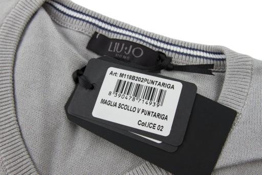 Sweter LIU JO PUNTARIGA męski cienki bawełna XXL 10455043145 Odzież Męska Swetry EU RRXWEU-4