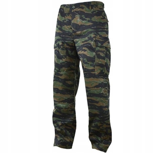Spodnie moro wojskowe Mil-Tec BDU Tiger Stripe XXL 10188122108 Odzież Męska Spodnie PZ TXJKPZ-7