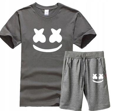 Męski Letni Komplet Marshmello Spodenki + T-shirt 10726422888 Odzież Męska Komplety YM IRBKYM-2