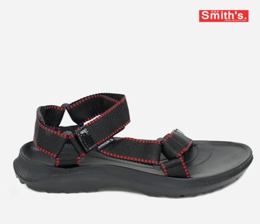 Sandały sportowe męskie Smith's. Czarne 43 9443730963 Obuwie Męskie Męskie VQ QKIZVQ-2