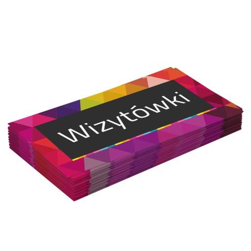 Wizytówki Sztywne GRUBE 500 szt DWUSTRONNE 350g