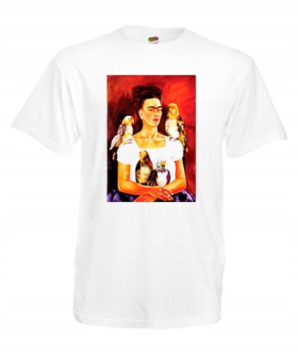 XXXL KOSZULKA MĘSKA FRIDA KAHLO KWIATY MEKSYK WZÓR 10196261806 Odzież Męska T-shirty CM RVJHCM-8