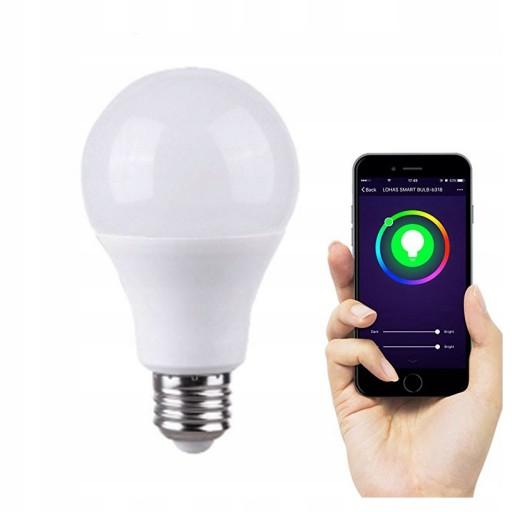 Inteligentna żarówka E27 RGB LED NEO WiFi Tuya