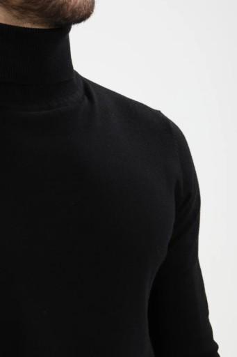 Pier One sweter męski golf S czarny C83 10722423462 Odzież Męska Swetry QK HVTJQK-1