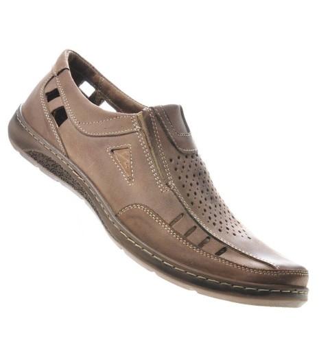 SKÓRZANE PÓŁBUTY Sandały buty męskie 436-900 45 10528591426 Obuwie Męskie Męskie TY NCJZTY-2