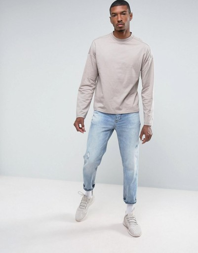X1F307*KOSZULKA Z DŁUGIM RĘKAWEM MĘSKA L U00 10760356196 Odzież Męska Koszulki z długim rękawem PP KOZTPP-3