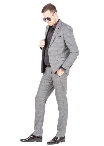 Garniturowe Spodnie Męskie duży rozmiar Szare 40 9927192735 Odzież Męska Spodnie OK OYUTOK-1