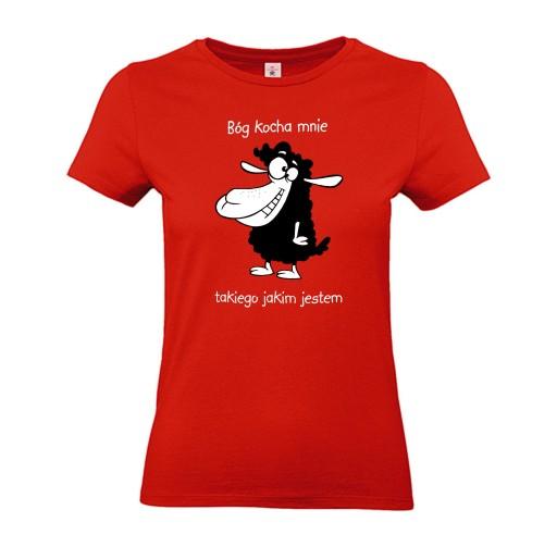 koszulki chrześcijańskie religijne BÓG KOCHA MNIE 10691475220 Odzież Męska T-shirty QO EGFOQO-6