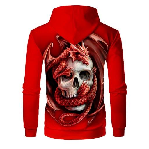 męski z nadrukiem cyfrowym Red Skull Sweter męski 9813457118 Odzież Męska Swetry PA HZBYPA-3