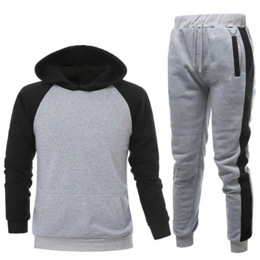 Męski sportowy dres joggingu z długie spodniami G 10175386746 Odzież Męska Komplety YE OFXWYE-8
