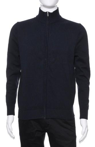 C&A bawełniany sweter męski na zamek granat S 10097273598 Odzież Męska Swetry SW HTQISW-3