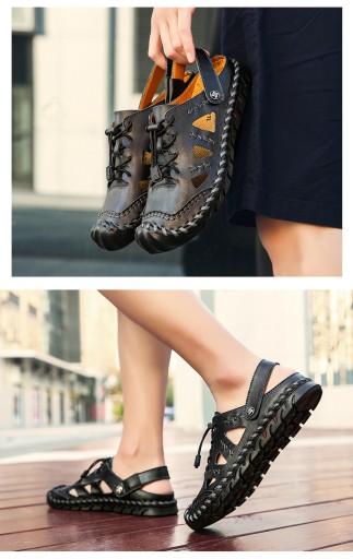Baotou prawdziwa skÓra Męskie buty sandały r.43 10675699719 Obuwie Męskie Męskie KC PXKTKC-2