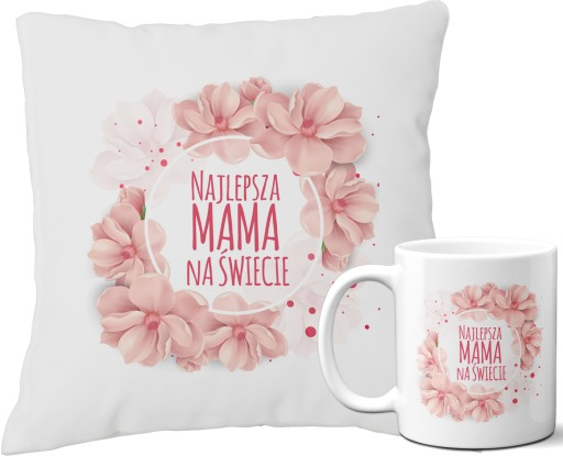 Zestaw Poduszka Kubek Prezent Dzien Mamy Matki 9187315283 Allegro Pl