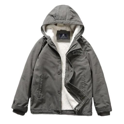 Męska bawełniana kurtka z kapturem 10639424420 Odzież Męska Okrycia wierzchnie IV NUFZIV-1