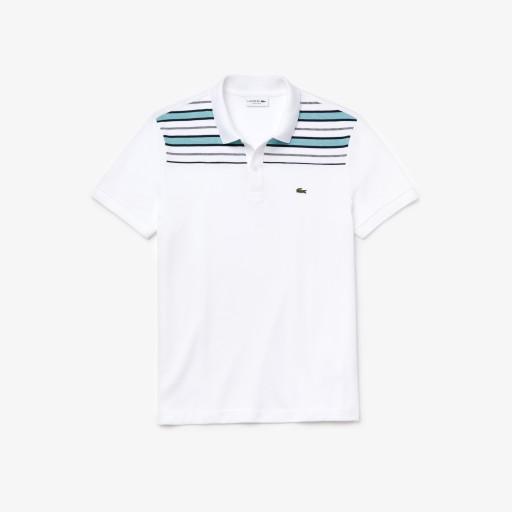 Lacoste Męska Koszulka Polo Ze Wstawką W Pasy 10610268292 Odzież Męska Koszulki polo CQ KIHSCQ-8