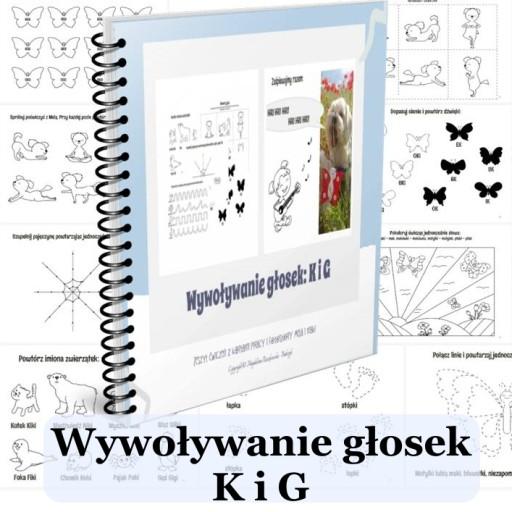 Logopedia głoski K G karty pracy PDF przedszkole