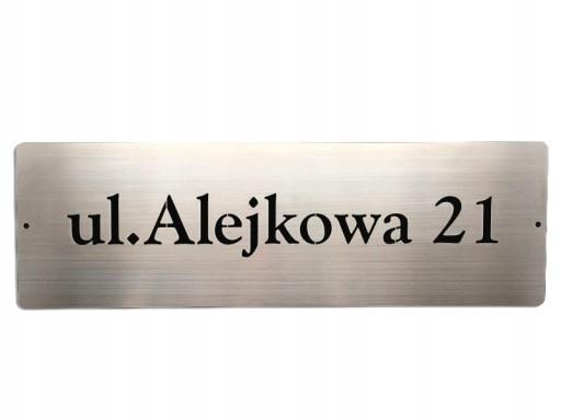 NUMER NA DOM TABLICA ADRES STAL NIERDZEWNA 48x15cm