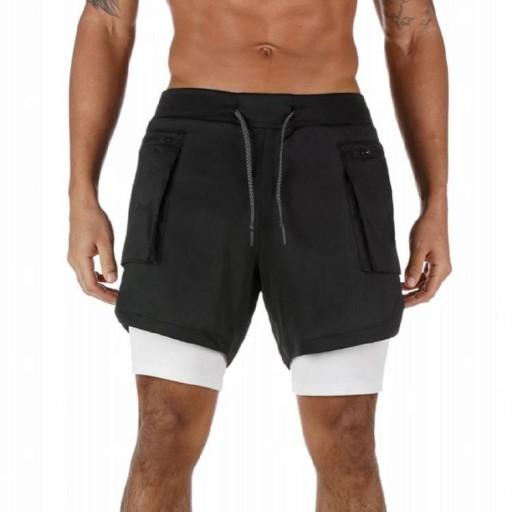 Letnie nowe Hot Products Sports Man # Biały 9xl. 10637010707 Odzież Męska Spodenki NH QCFCNH-2