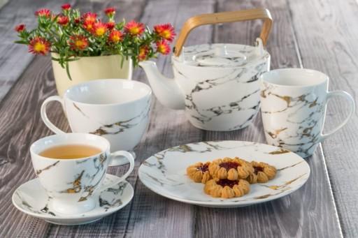 VILLA ITALIA MARMO Serwis do kawy herbaty na 6os