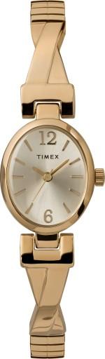 Zegarek damski złoty rozciągana bransoleta Timex
