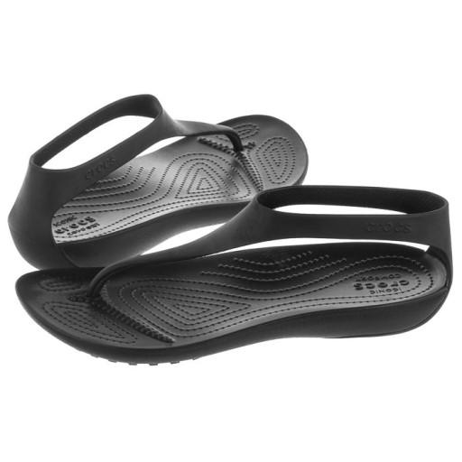 Damskie Sandały Crocs Serena Flip W 205468 Czarne