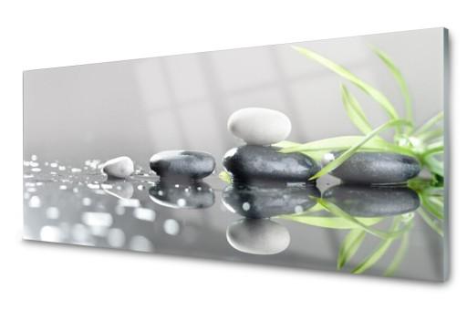 Lacobel Szklany Dekoracyjny Trawa Zen Kamyk 120x60