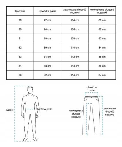 SZARE MELANŻOWE SPODNIE MĘSKIE REGULAR BAWEŁNA 31 8578246168 Odzież Męska Spodnie YU IWWQYU-4