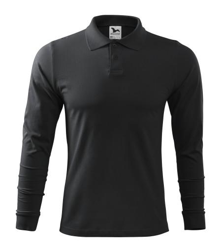 Koszulka polo męska dł rękaw S ebony gray 211ADLER