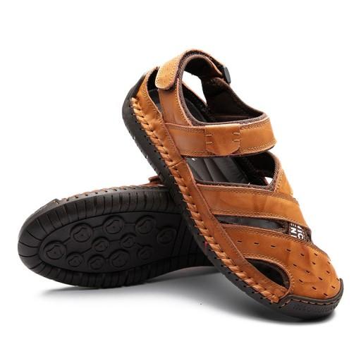 Lato Plus Size SkÓrzane sandały Oddychająca Moda 10751135130 Obuwie Męskie Męskie CS CWXCCS-6