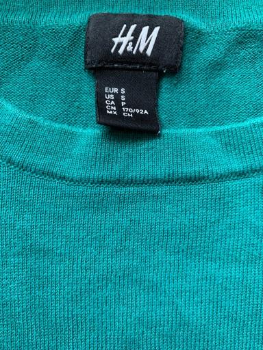 H&M HM Sweter z cienkiej bawełny zieleń 36 S 10612536054 Odzież Męska Swetry BD GLRDBD-6