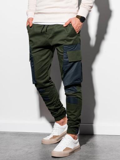 Spodnie męskie joggery baggy P998 khaki M 10510694599 Odzież Męska Spodnie TL WRNMTL-4