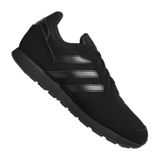 Czarne Skóra naturalna Buty Męskie Adidas r.48