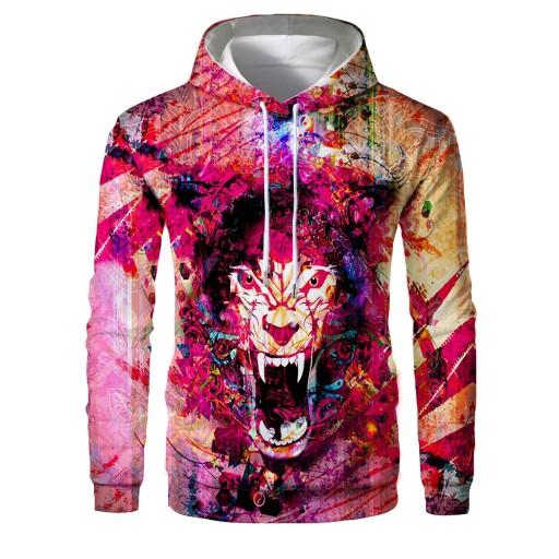 Sweter męski Kolorowy, luźny, męski sweter z kaptu 9626680739 Odzież Męska Swetry JP DSEMJP-3
