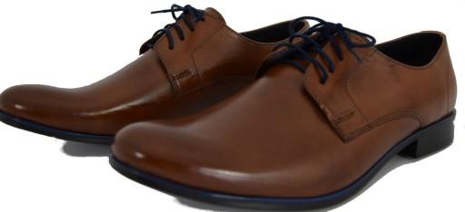Hit Obuwie męskie buty eleganckie półbuty 624 R.45 8504835577