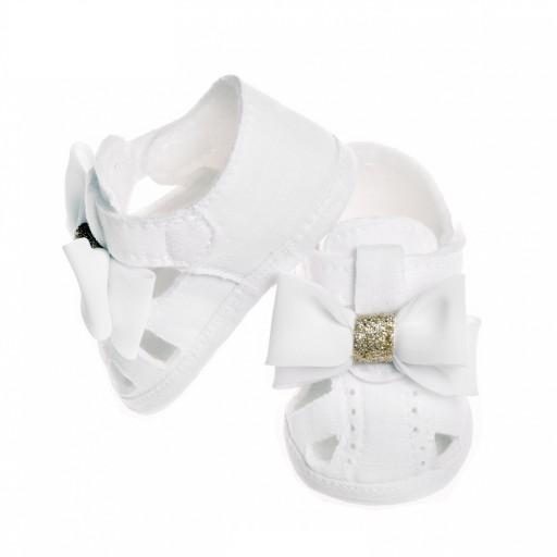 Buciki dla dziewczynki na chrzest, chrztu, ślub