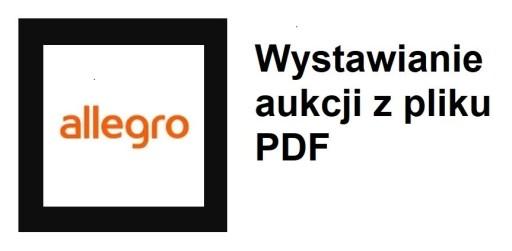 Wystawianie aukcji na podstawie pliku PDF, CSV