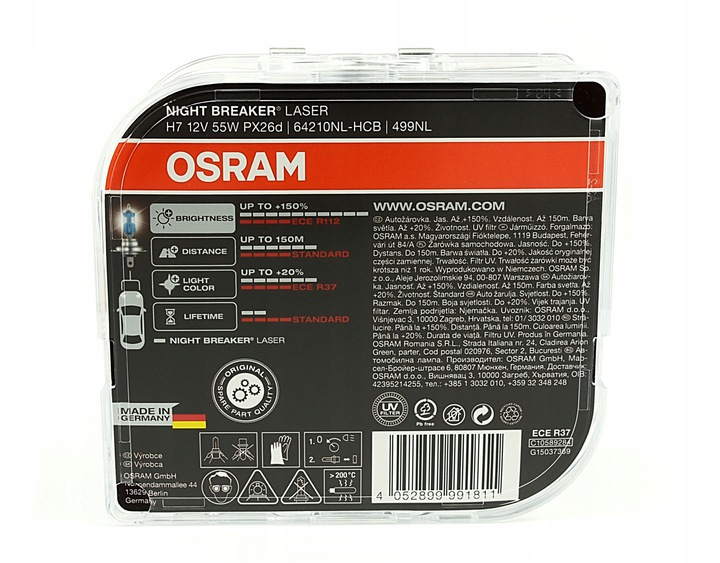 OSRAM ЛАМПЫ H7 NIGHT BREAKER ЛАЗЕР 150%  W5W доставка из Польши Allegro на русском