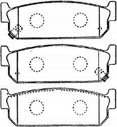 kashiyama japan колодки тормозный зад infiniti q45 ii2 - фото