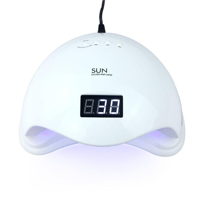 Лампа для ногтей SUN LED 5 UV DUAL 48W их ГИБРИДОВ доставка из Польши Allegro на русском