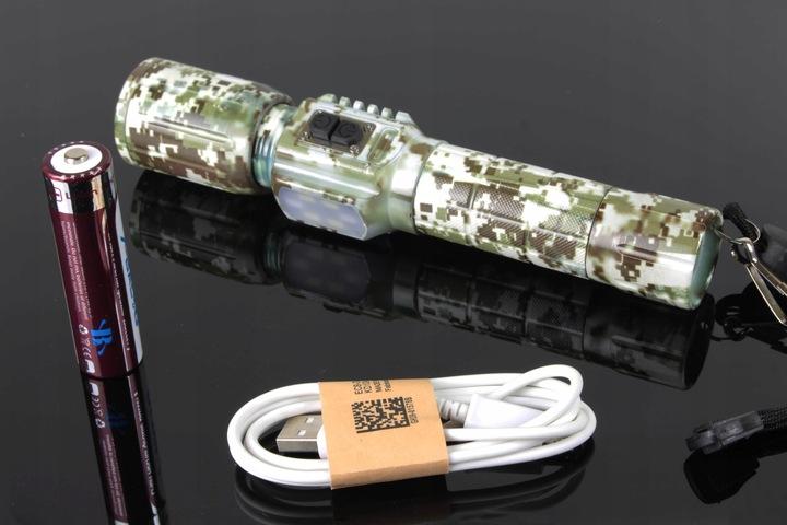 Фонарик ВОЕННАЯ КАМУФЛЯЖ MEGA ZOOM XM-L T6 SMD USB доставка из Польши Allegro на русском