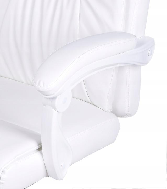 Кресло офисное кресло с подставкой для ног белый МАССАЖ купить с доставкой из Польши с Allegro