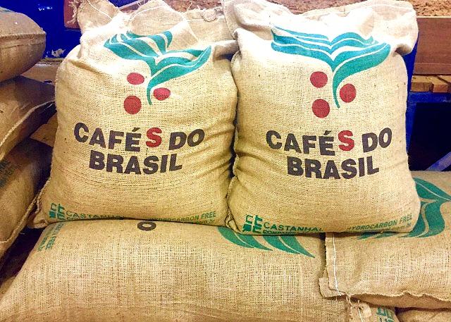 Бразилия свежеобжаренного Cafes Бразилия Сантос 1кг доставка из Польши Allegro на русском