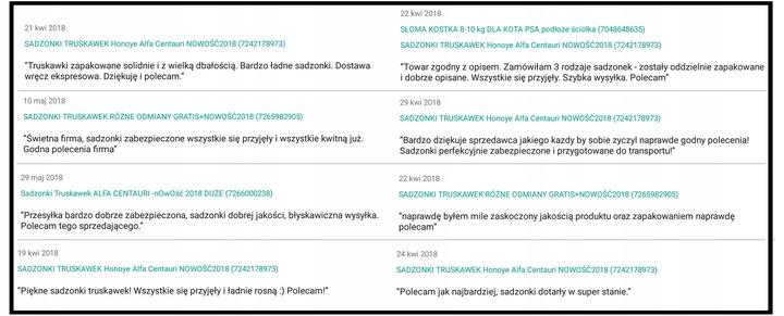 САЖЕНЦЫ КЛУБНИКИ 5ODMIAN 10ШТДОСТАВКА NOWOŚĆ2020 доставка из Польши Allegro на русском