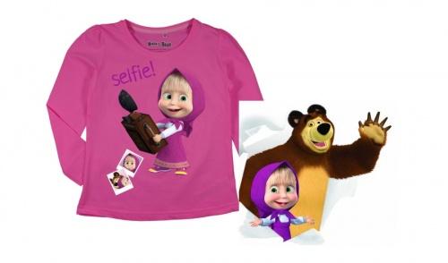 Masza i Niedźwiedź Bluzka Koszulka r. 128 licencja 6673965330 Dziecięce Odzież HX JSKQHX-2