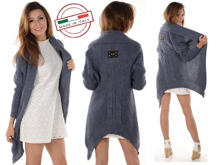 Sweter włoski KARDIGAN NARZUTKA blezer KOLORY 7896004032 Odzież Damska Swetry UD ACCVUD-4